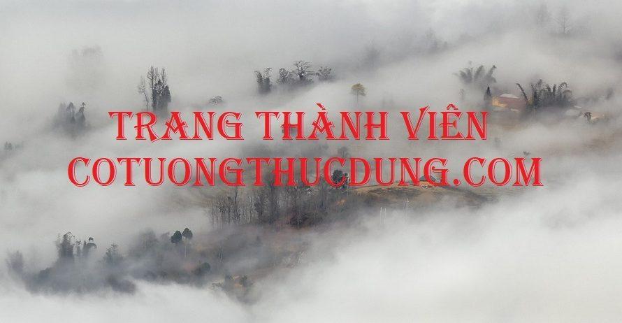 """Thông báo của Admin về """"Trang Dành Cho Thành Viên""""."""